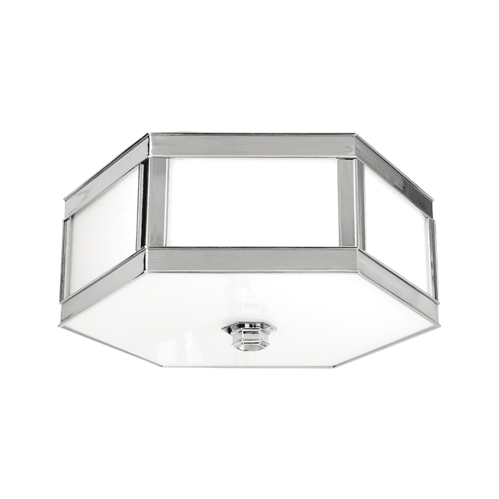 Nassau 3 Light Flush Mount Polished Nickel