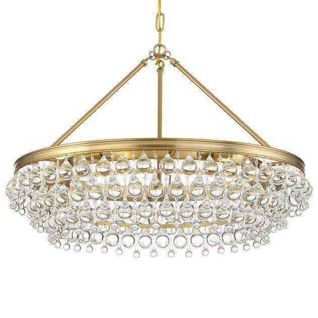 Calypso 6 Light Crystal Teardrop Chandelier
