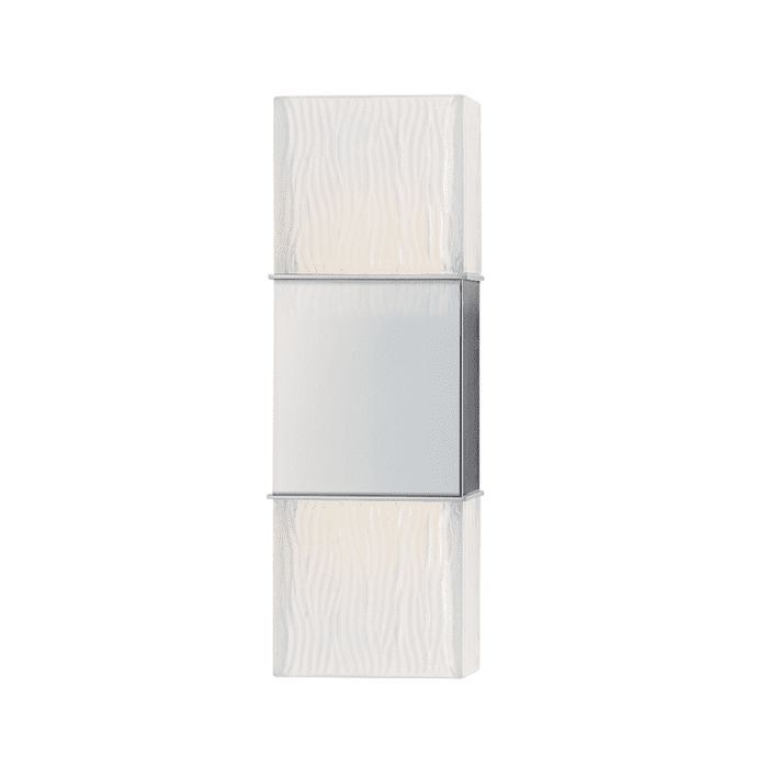 Aurora 2 Light Wall Sconce Polished Chrome