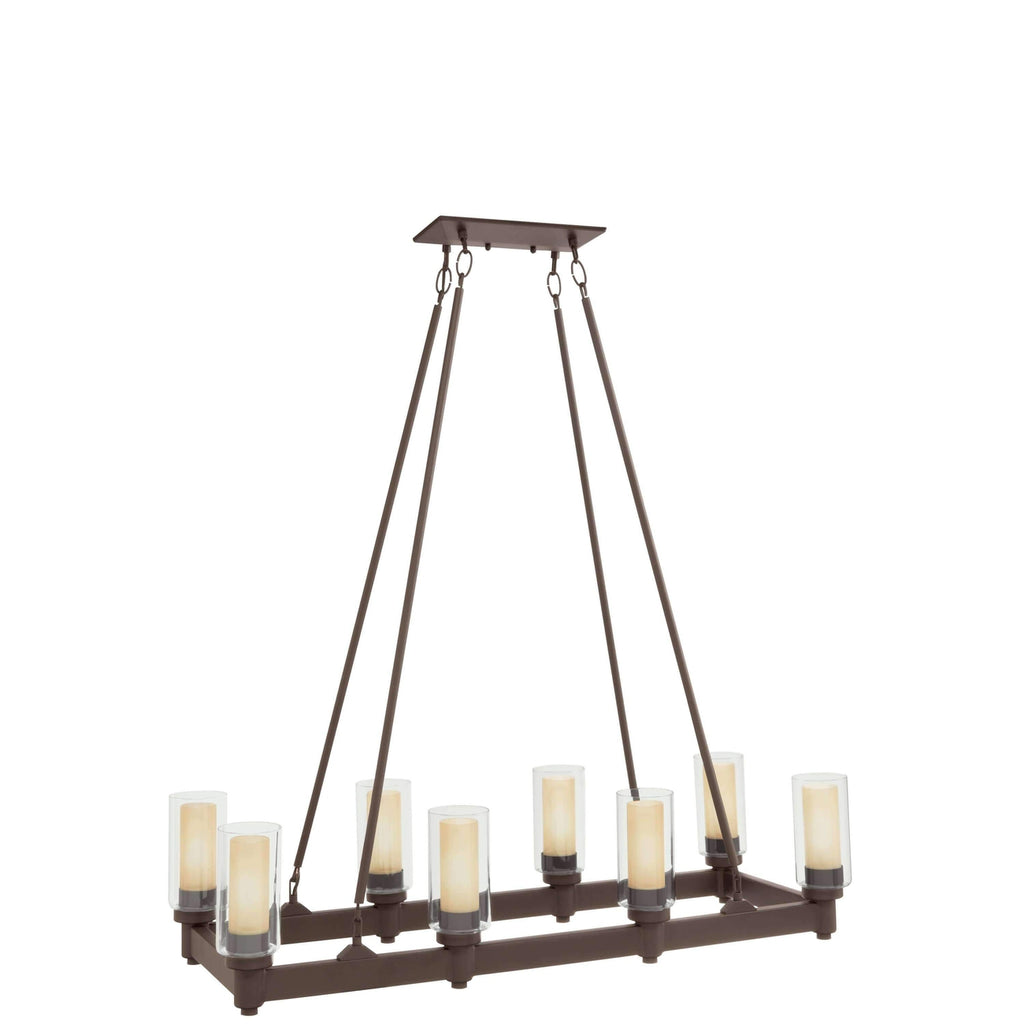 Circolo Linear Chandelier 8 Light - Olde Bronze