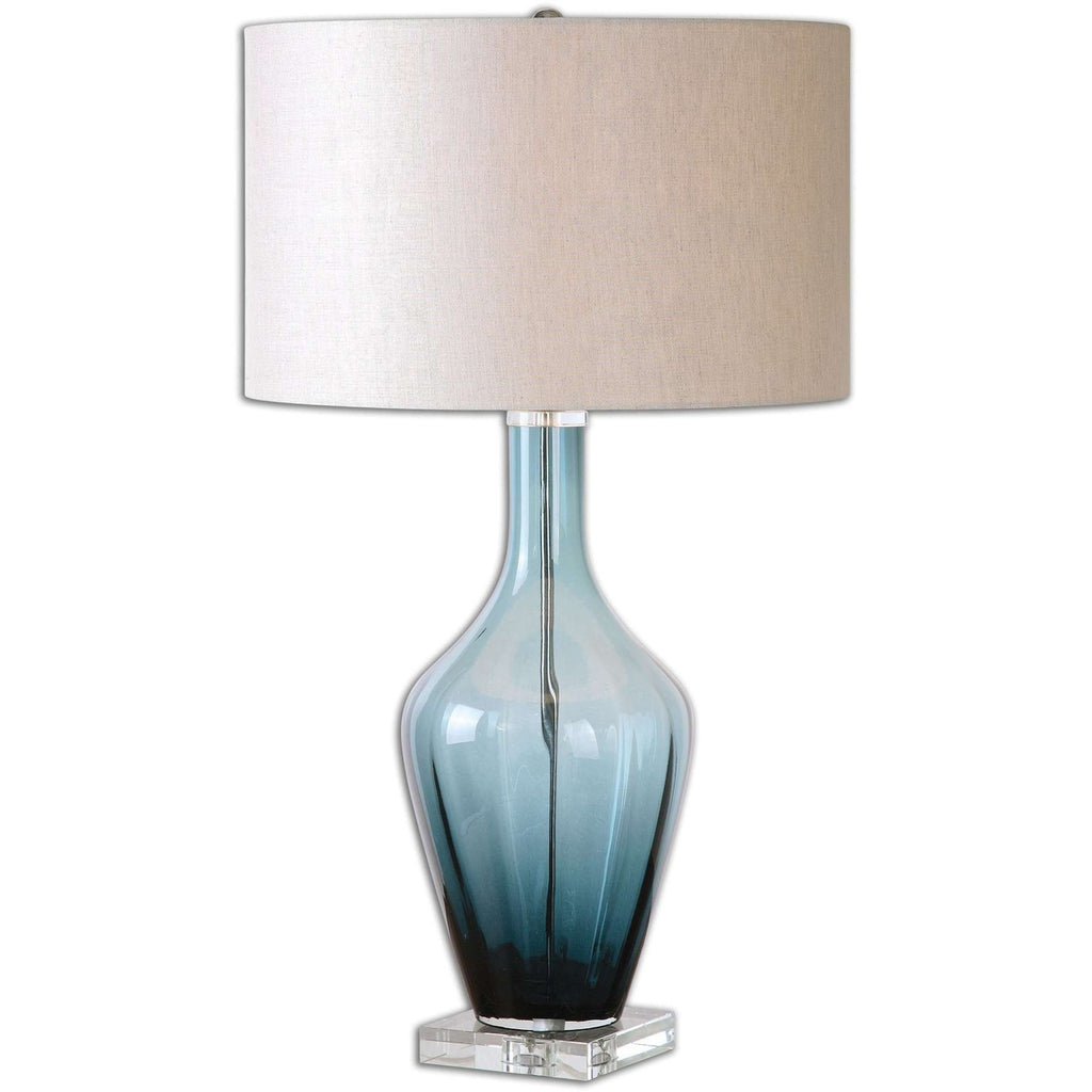 Uttermost Hagano Blue Glass Table Lamp