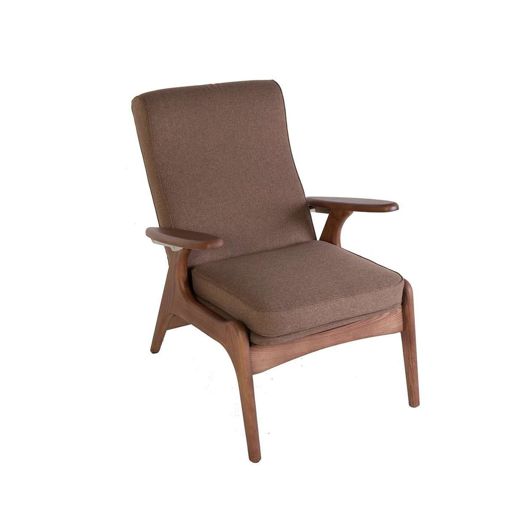 Kontakt Mid Century Recliner Chair   Brown [new Product] Free Shipping