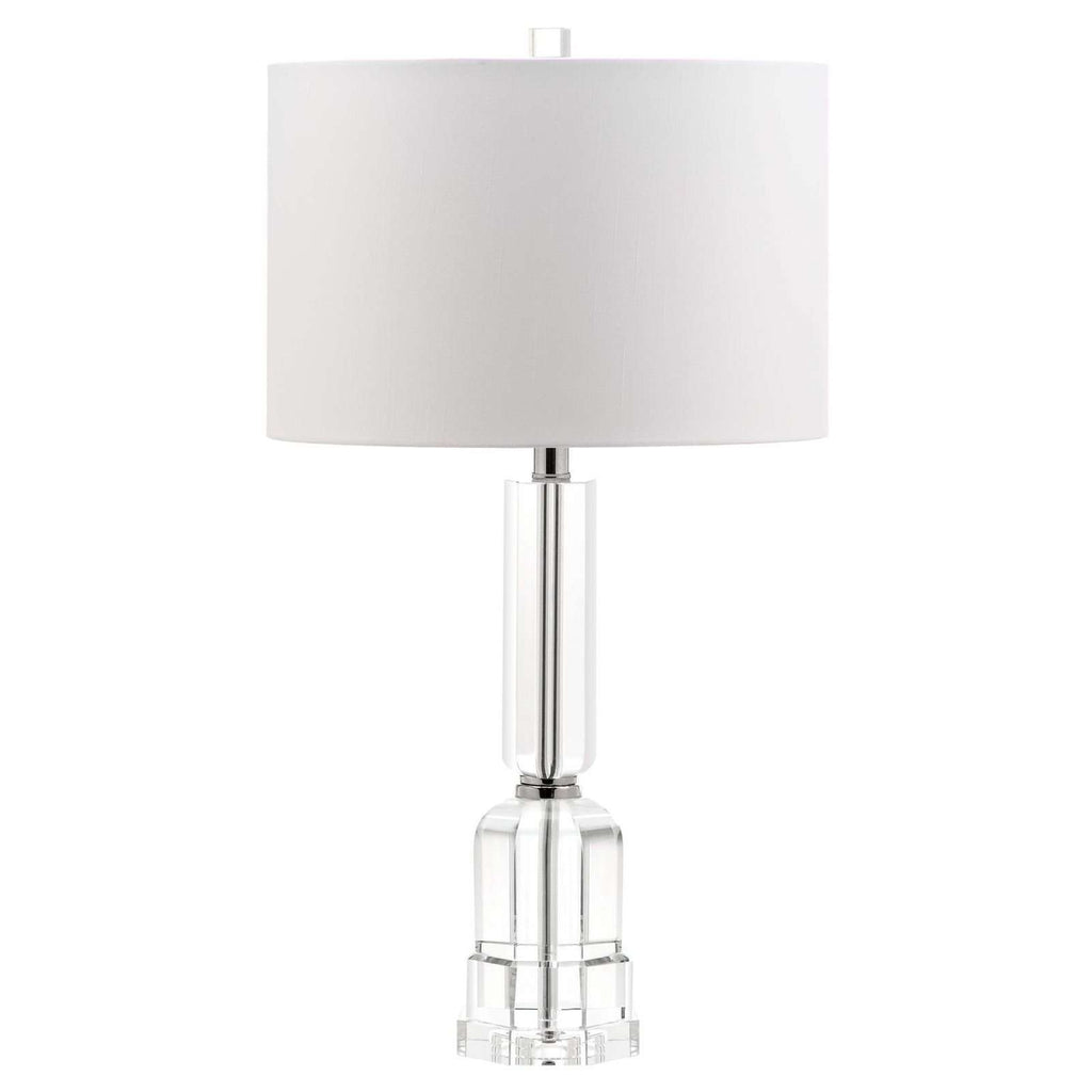 "27.5""H Tall Crystal With Polished Nickel Accents Table Lamp"