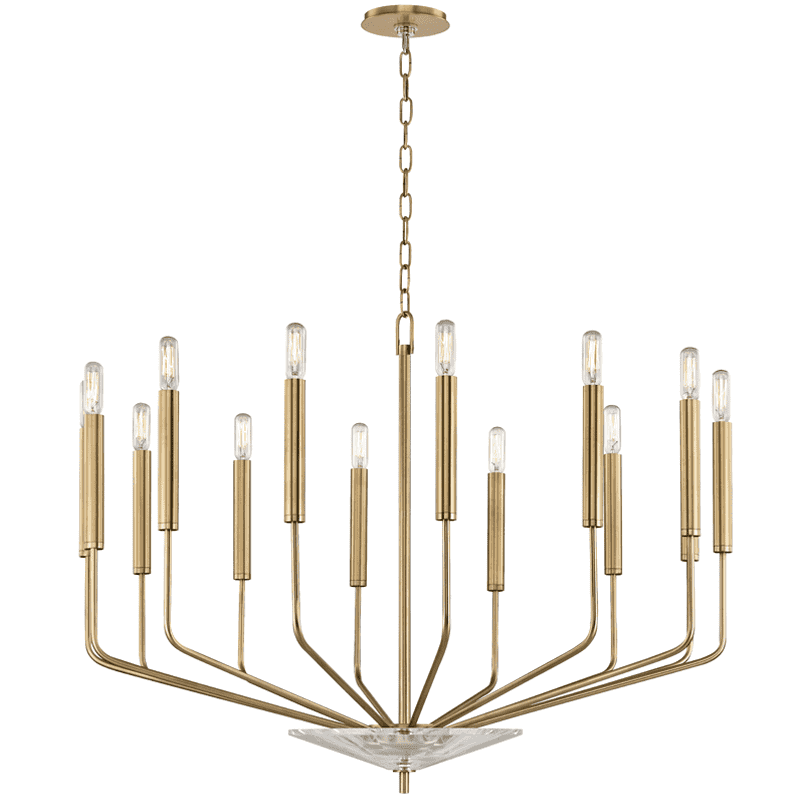 Gideon 14 Light Chandelier Aged Brass