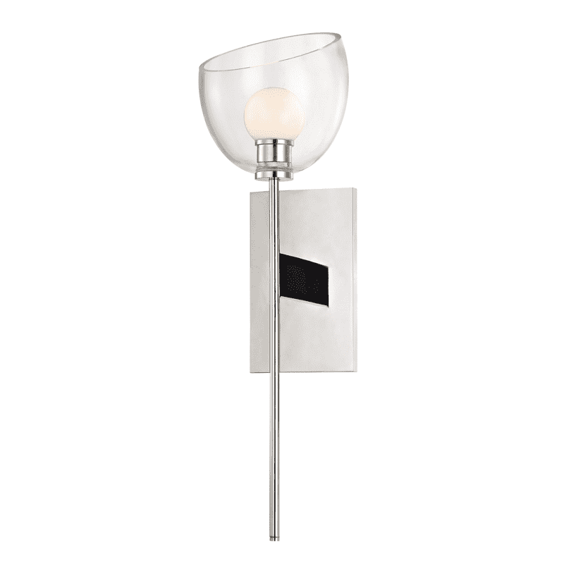 Davis 1 Light Wall Sconce Polished Nickel