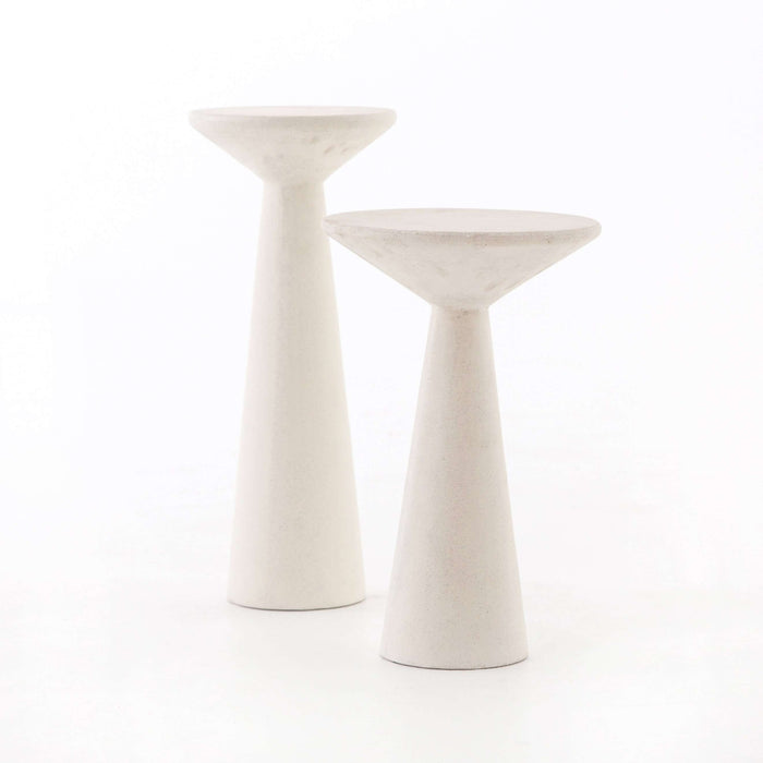 VEVR-033A RAVINE CONCRETE ACCENT TABLES, SET OF 2