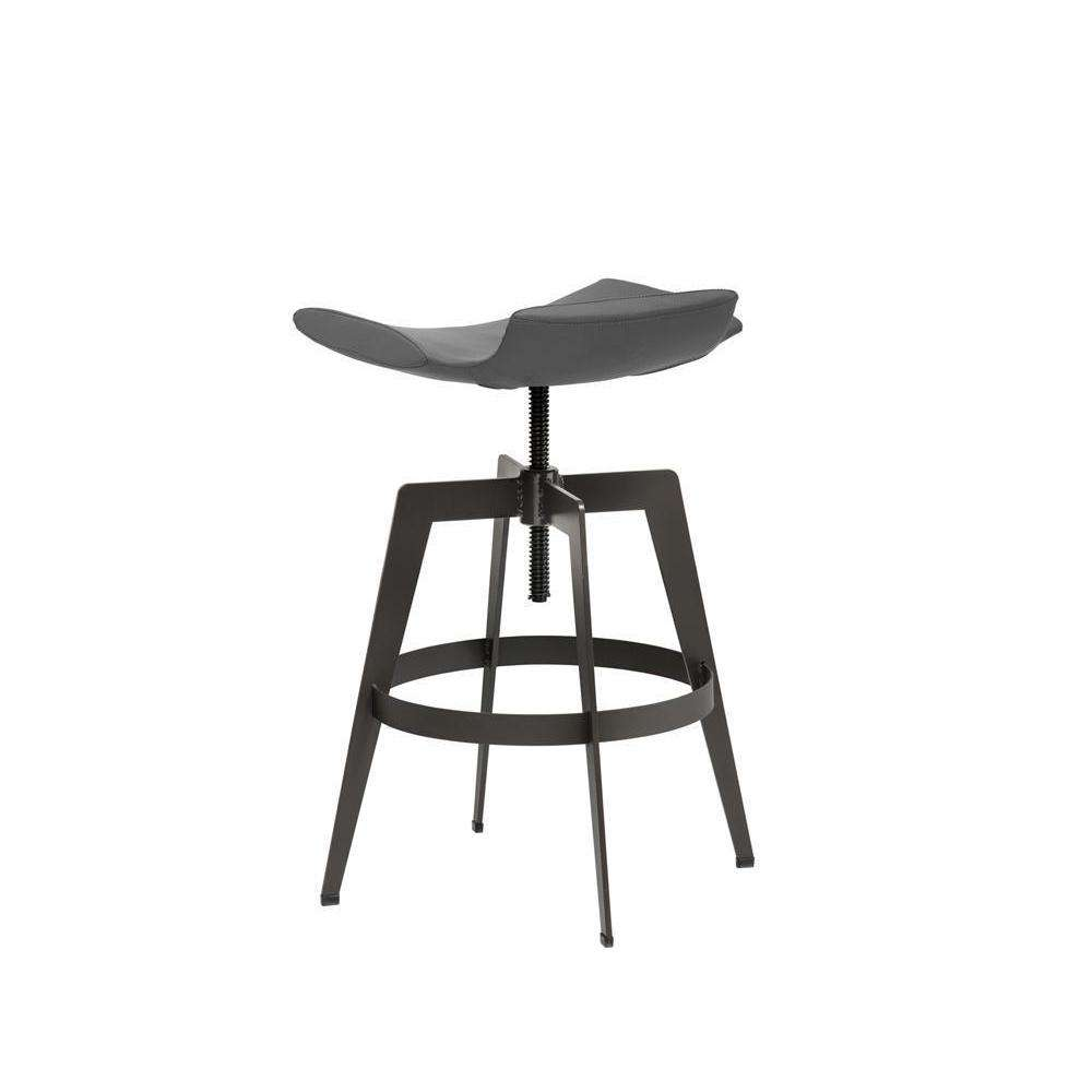 BANCROFT ADJUSTABLE BARSTOOL - GRAPHITE