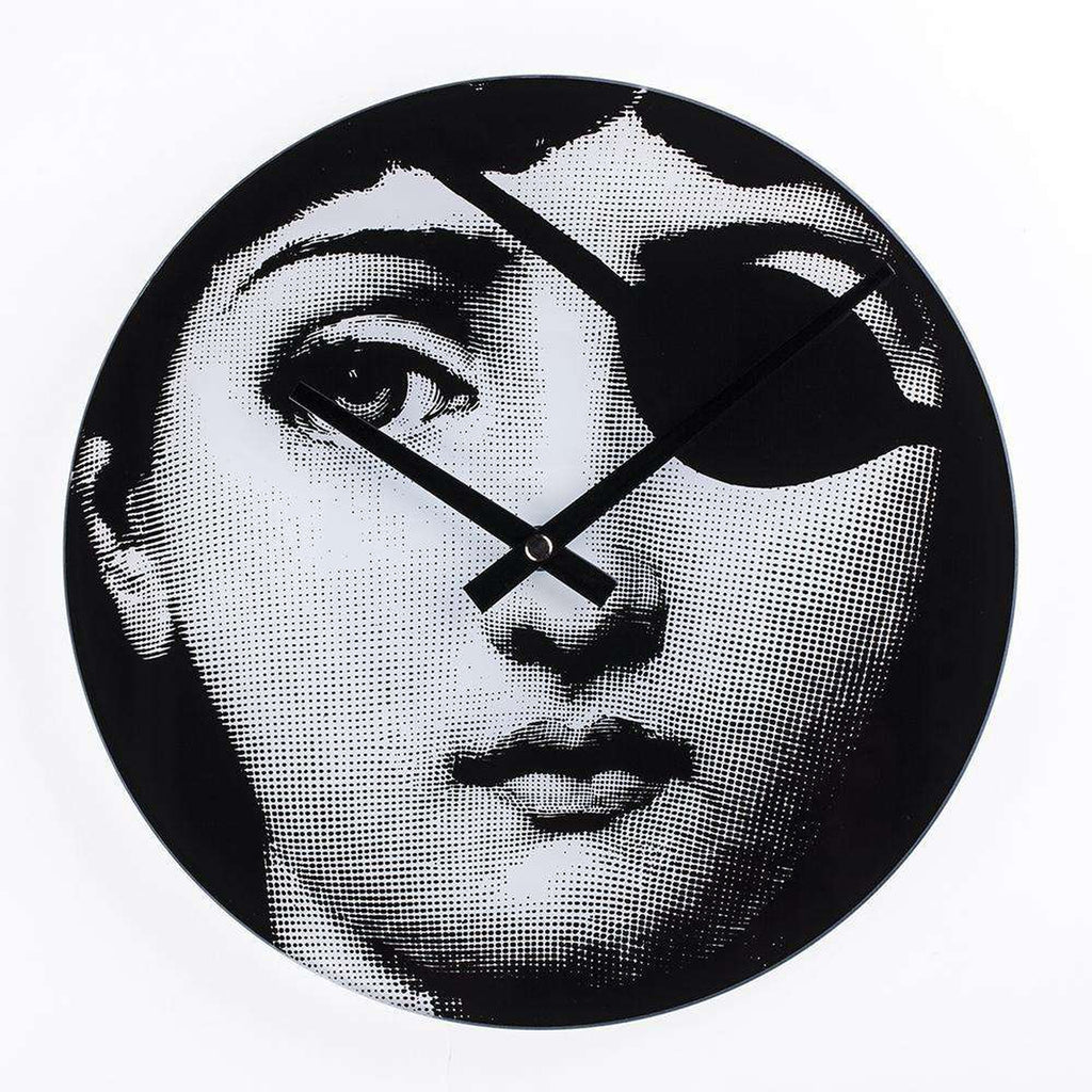 Mid-Century Modern Reproduction Girl Clock - Hacker Girl Inspired by Piero Fornasetti
