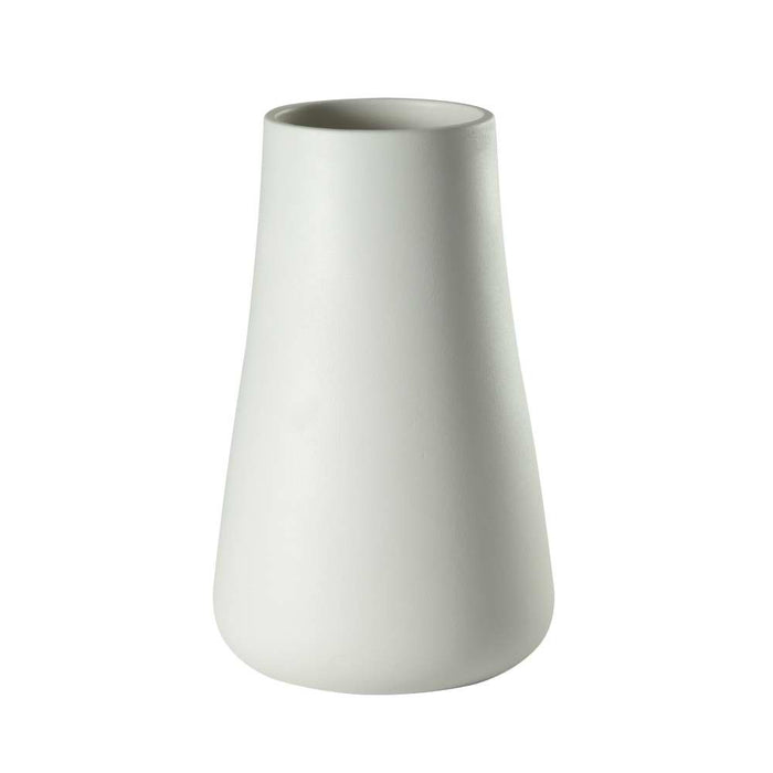 Baltic Low Matte White  Vase