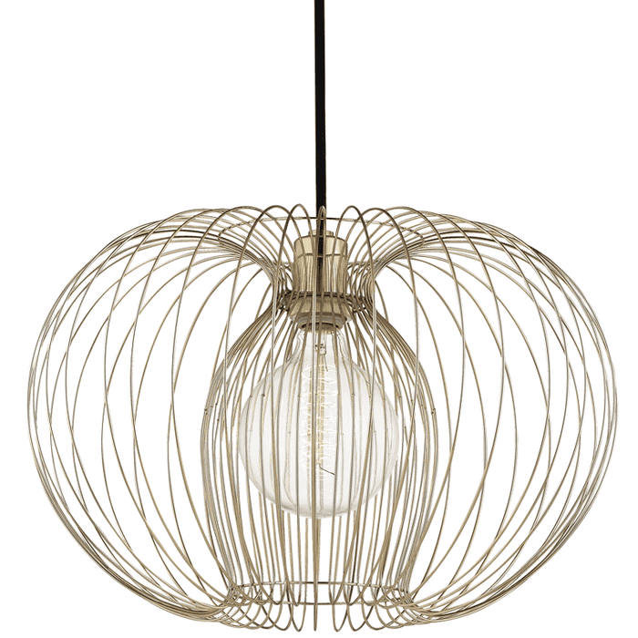 Jasmine 1 Light Large Pendant - Polished Brass