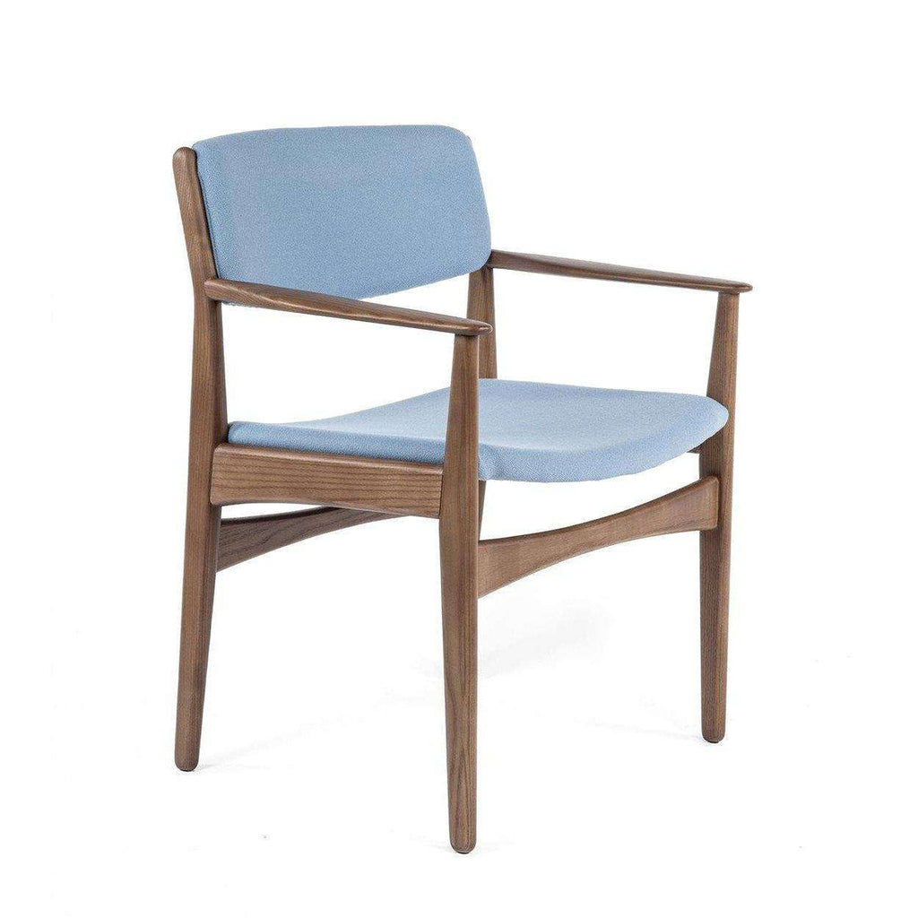 Mid-Century Modern Josef Dining Arm Chair - Blue