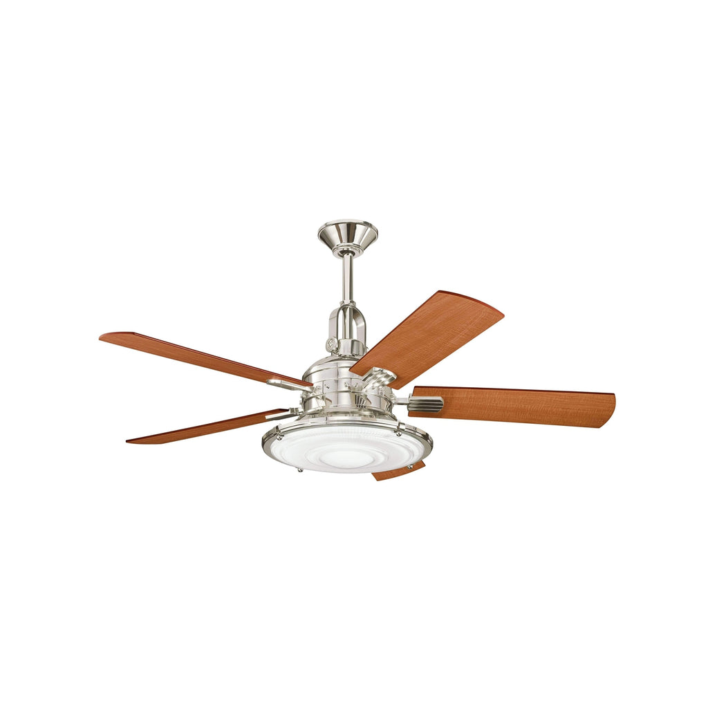 52 Inch Kittery Point Fan - Polished Nickel