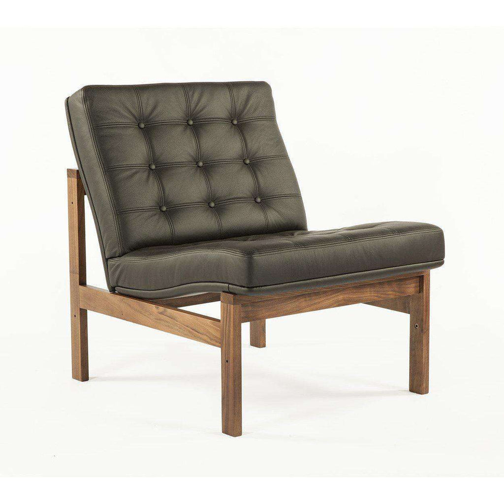Mid-Century Modern Reproduction Moduline Sofa - Black Leather Inspired by Ole Gjerlov-Knudsen and Torben Lind