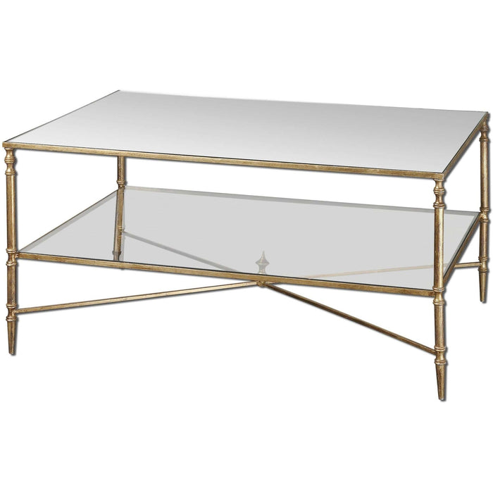 Uttermost Henzler Mirrored Glass Coffee Table