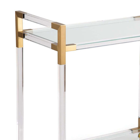 Americano Bar Cart (Natural Brass)