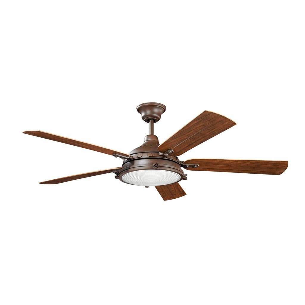 60 Inch Hatteras Bay Patio Fan - Tannery Bronze Powder Coat