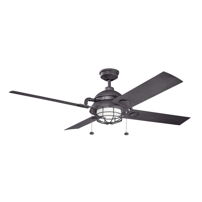 65 Inch Maor LED Patio Fan - Distressed Black