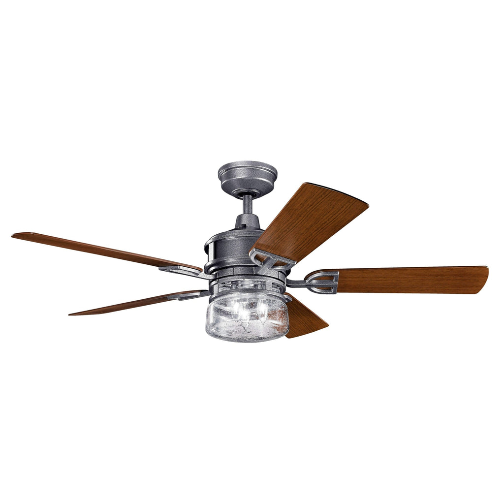 52 Inch Lyndon Patio Fan - Weathered Steel Powder Coat