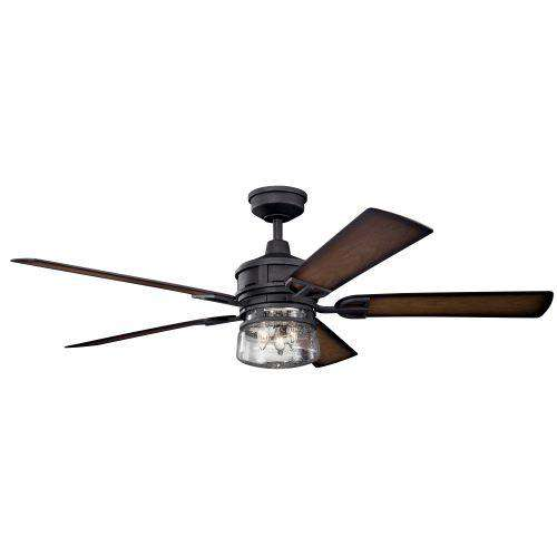 60 Inch Lyndon Patio Fan - Distressed Black