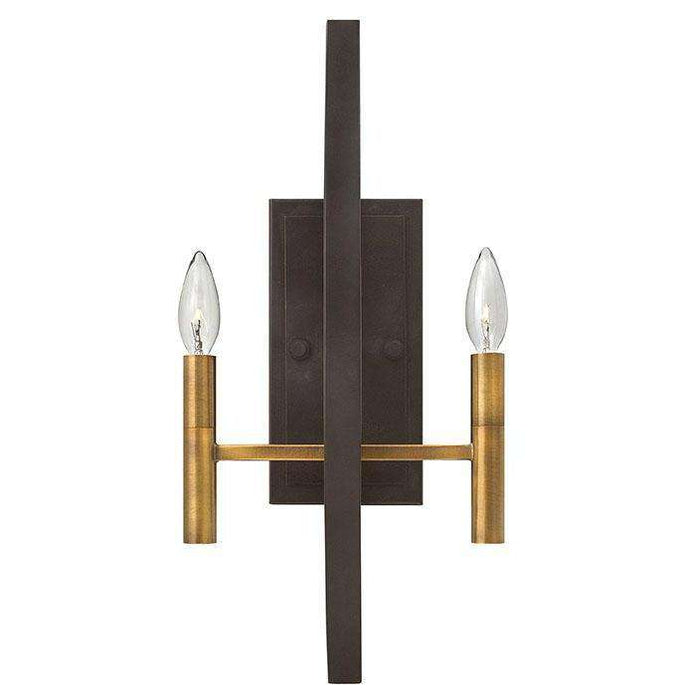 Euclid Two Sconce Spanish Bronze