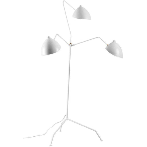 Mid-Century Modern Reproduction MFL-3 Standing Lamp - Three Arm - White Inspired by Serge Mouille