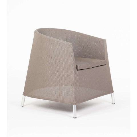 Modern Keifer Patio Arm Chair - Taupe