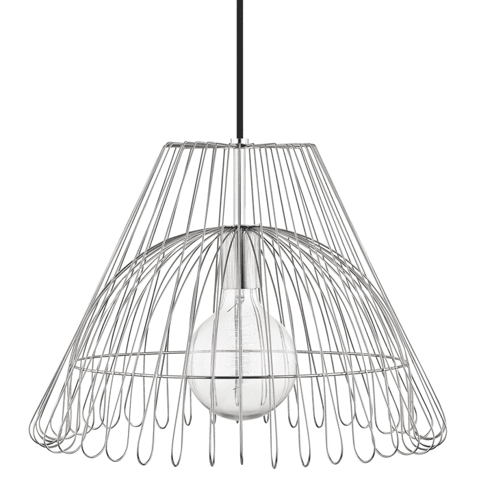Katie 1 Light Large Pendant - Polished Nickel