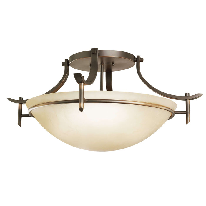 Olympia Semi Flush 3 Light - Olde Bronze