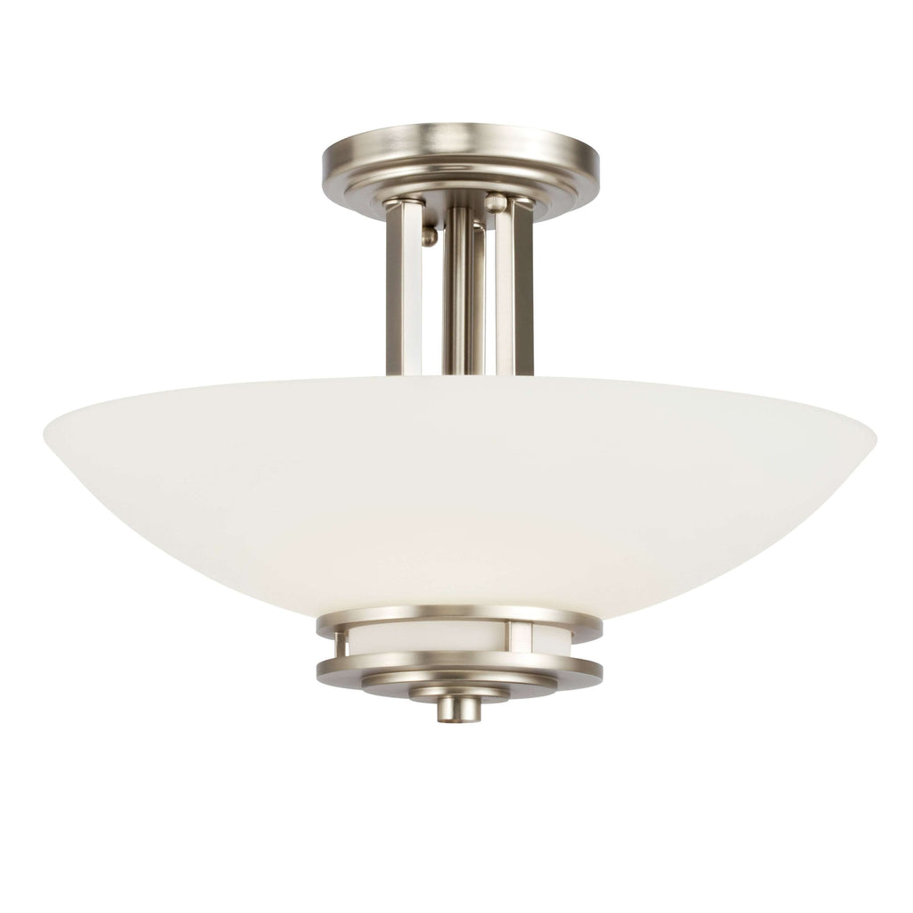 Hendrik Semi Flush 2 Light - Brushed Nickel