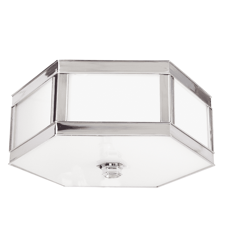 Nassau 2 Light Flush Mount Polished Nickel