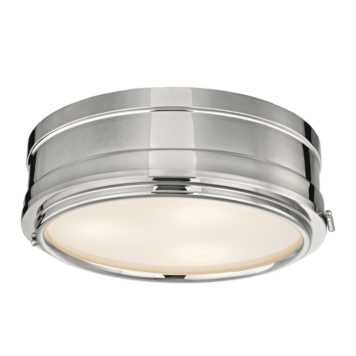 Rye 3 Light Flush Mount Polished Nickel