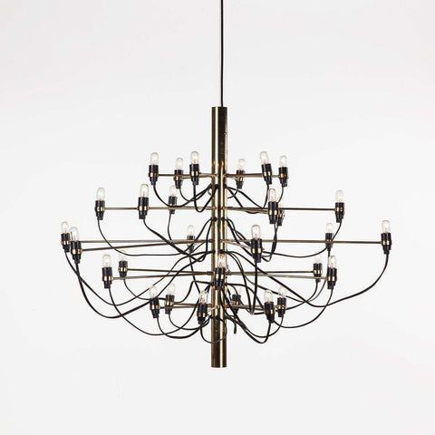 Mid-Century Modern Reproduction 2097 Chandelier - Brass Inspired by Gino Sarfatti