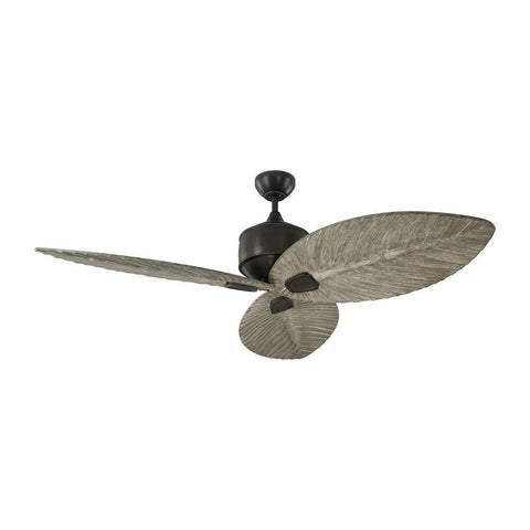 "56"" Delray Outdoor - Aged Pewter Fan"