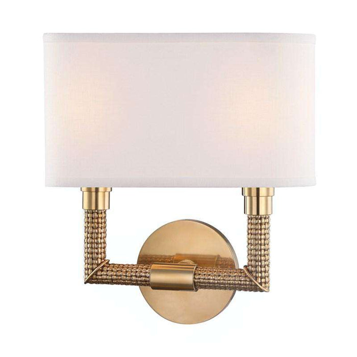Dubois 2 Light Wall Sconce Aged Brass
