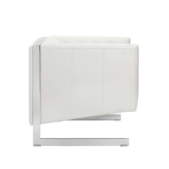 VIPER ARMCHAIR - WHITE LEATHER