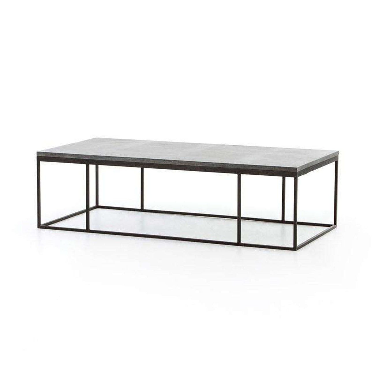 French Connection Gunmetal Coffee Table: HARLOW SMALL COFFEE TABLE