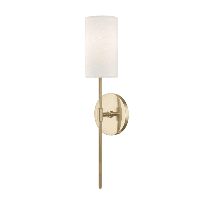 Olivia 1 Light Wall Sconce - Aged Brass