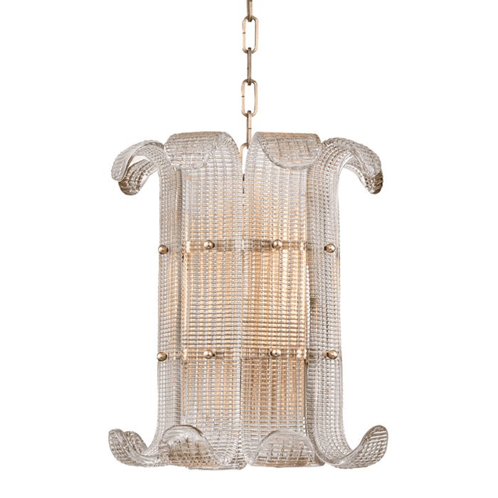 Brasher 4 Light Chandelier Aged Brass