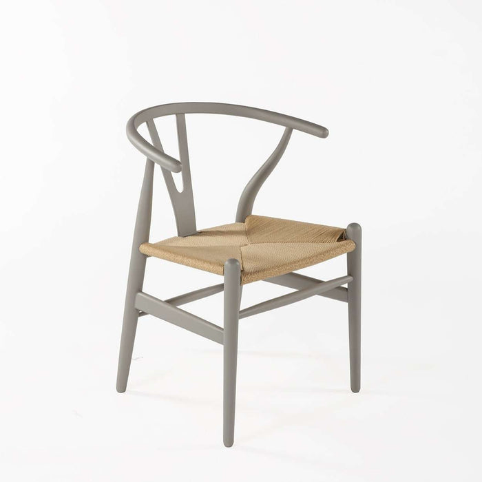 Mid-Century Modern Reproduction CH24 Wishbone Y Chair - Cool grey Inspired by Hans Wegner