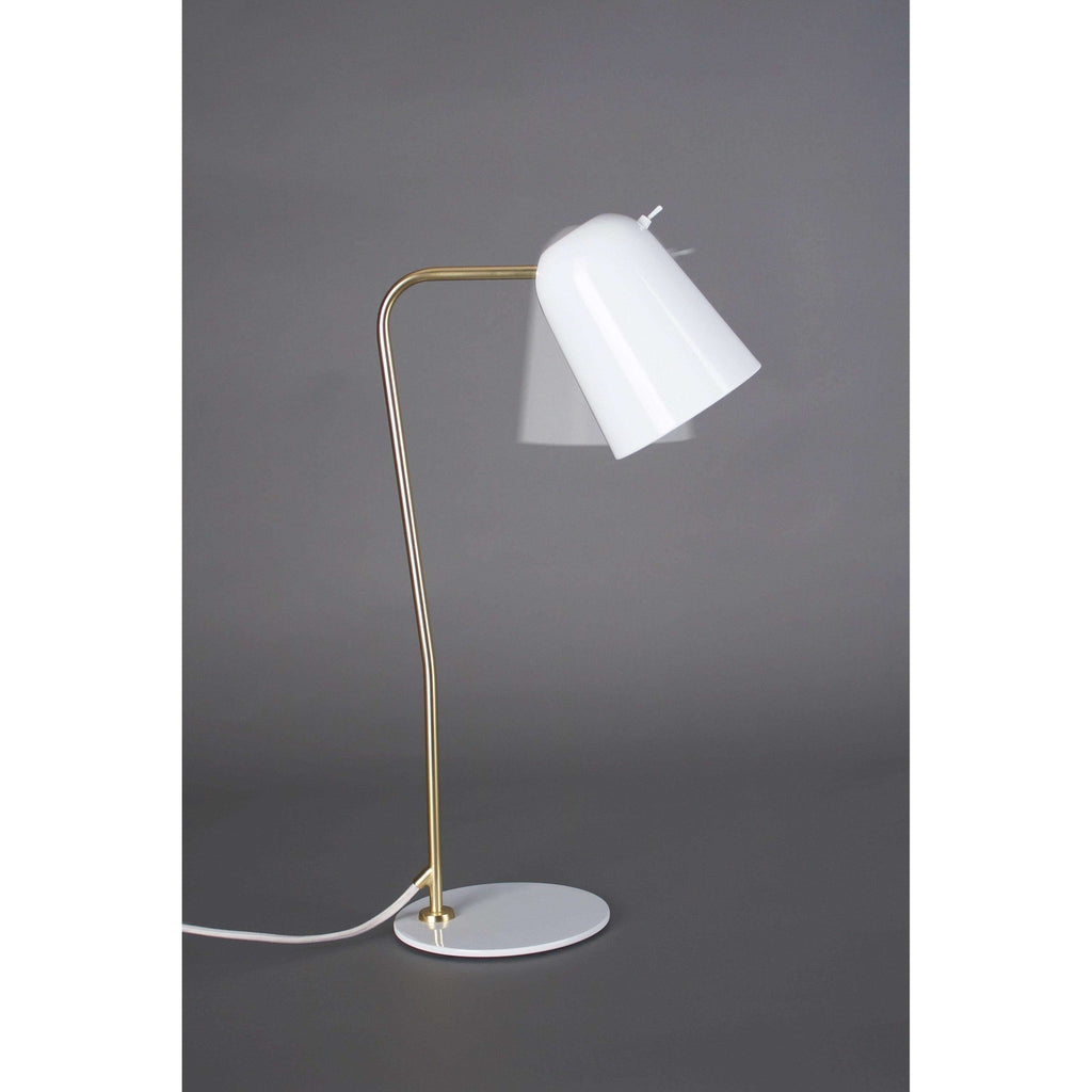 Dobi Table Lamp - White/Brass - SEED-SQ-2181D-WH - seed design