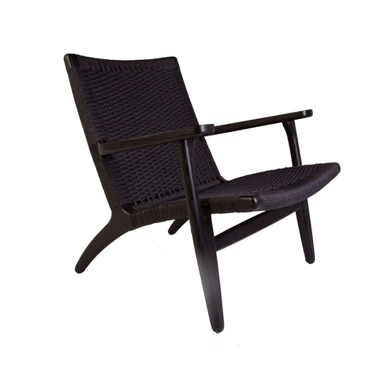 Mid-Century Modern Reproduction CH25 Lounge Chair - Walnut Inspired by Hans Wegner