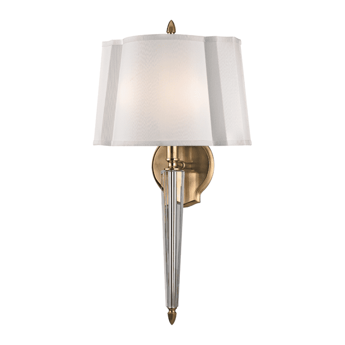 Oyster Bay 2 Light Wall Sconce Aged Brass