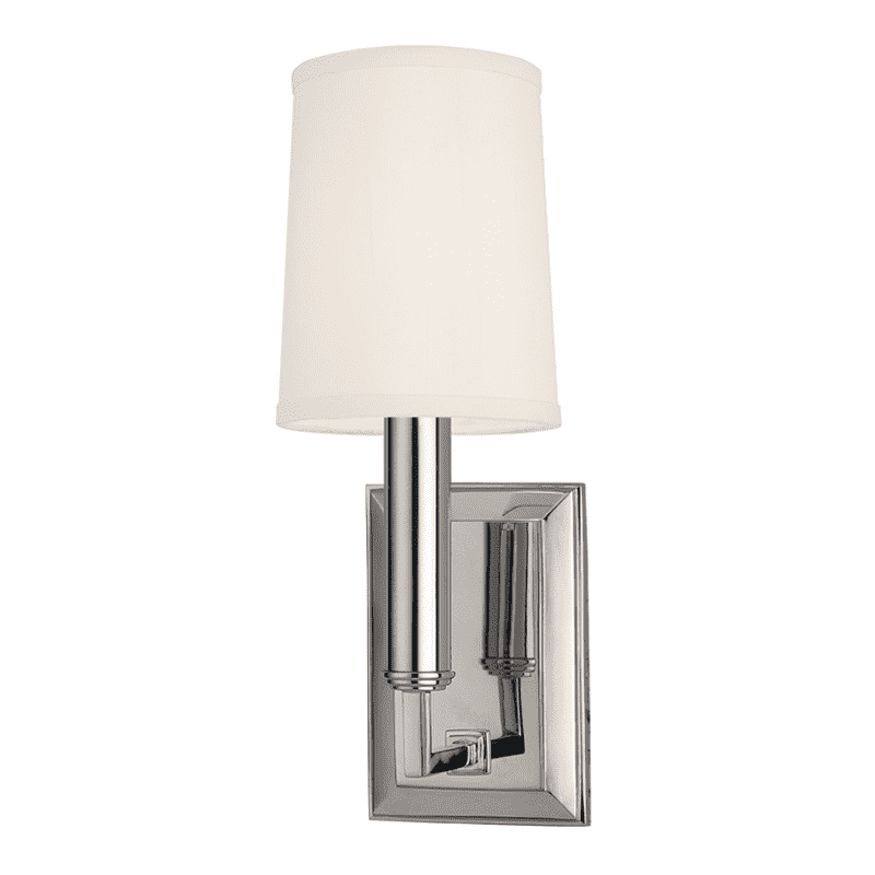 Clinton 1 Light Wall Sconce Polished Nickel