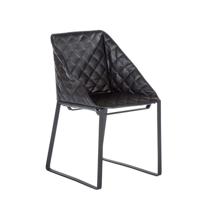 Modern Dabir Side Chair - Black
