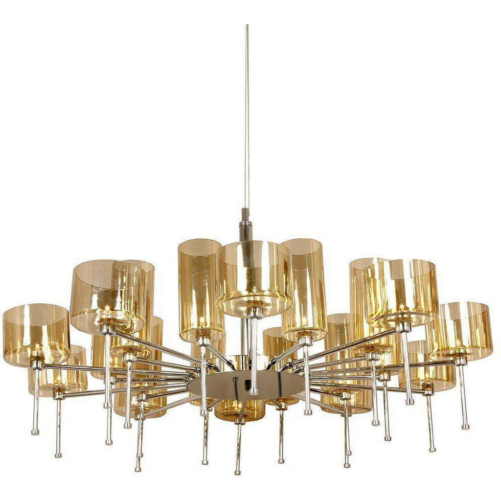 Mid-Century Modern Reproduction Spillray 20 Chandelier Inspired by Manuel Vivian