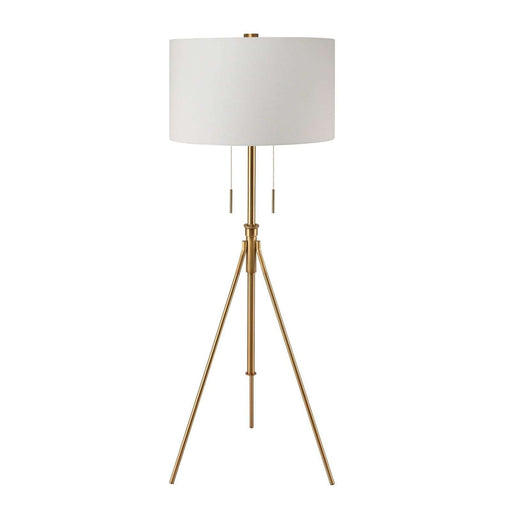 "51.75 - 71.75"" Adjustable Brass Tripod Floor Lamp"