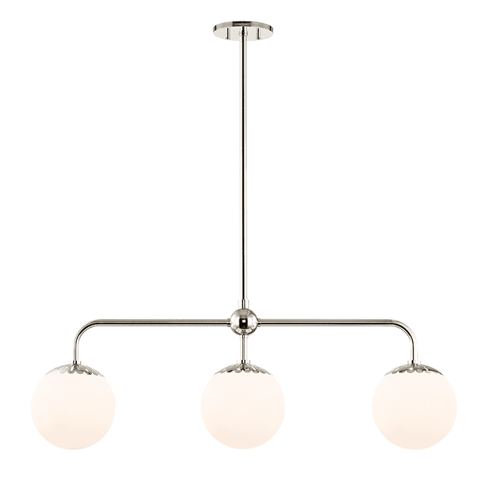 Paige 3 Light Island Light - Polished Nickel