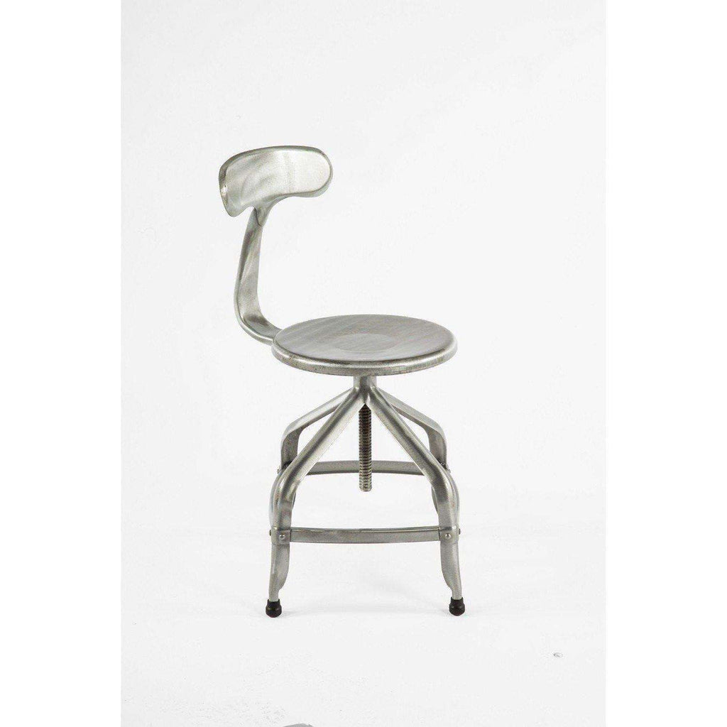 Industrial Modern Galiena Adjustable Chair Stool