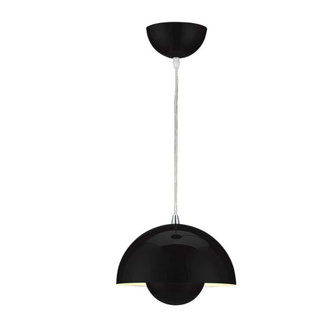 Mid-Century Modern Reproduction Flowerpot VP1 Pendant Lamp - Black Inspired by Verner Panton