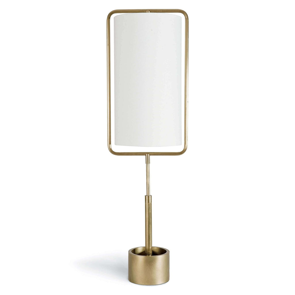 Geo Rectangle Table Lamp (Natural Brass)